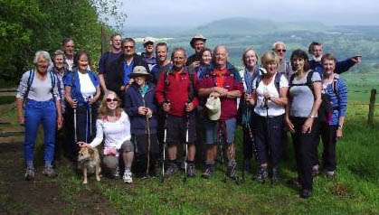 The hardy souls of Oxnam Kirk Walking Group