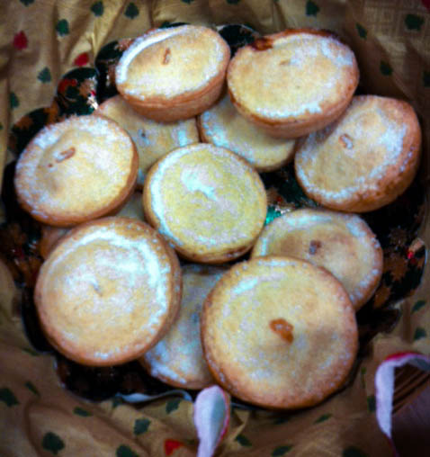 Francis' mince pies disappeared fast!