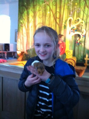 And the hamster came too!